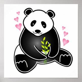 I Love My Panda print