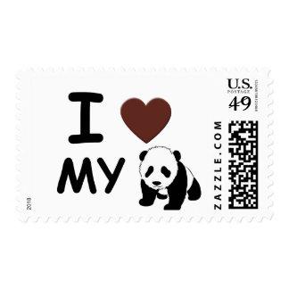 I love my panda stamp