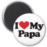 I Love My Papa 2 Inch Round Magnet