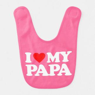 I LOVE MY PAPA BABY BIB