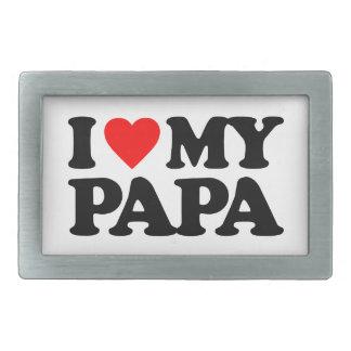 I LOVE MY PAPA RECTANGULAR BELT BUCKLE