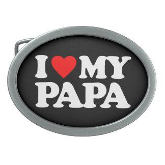I LOVE MY PAPA OVAL BELT BUCKLE