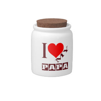 i love my Papa. Candy Dishes