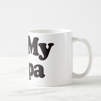 I Love My Papa Classic White Coffee Mug