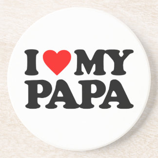 I LOVE MY PAPA BEVERAGE COASTERS