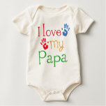 I Love My Papa (Handprints) Baby Bodysuit