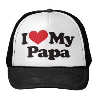I Love My Papa Mesh Hats