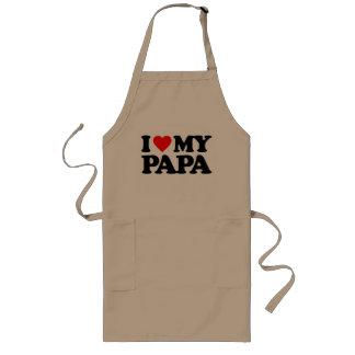 I LOVE MY PAPA LONG APRON