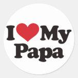 I Love My Papa Stickers