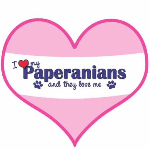 I Love My Paperanians (Multiple Dogs) Photo Cut Outs