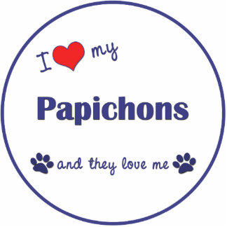 I Love My Papichons (Multiple Dogs) Photo Cutout