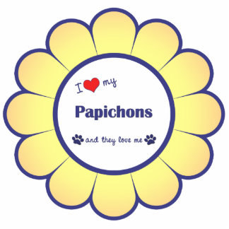 I Love My Papichons (Multiple Dogs) Photo Statuette