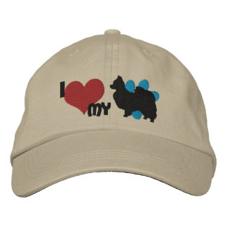 I Love my Papillon Baseball Cap
