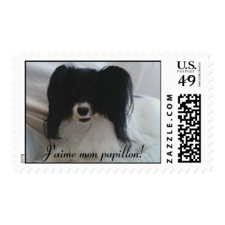 I love my papillon (french) postage