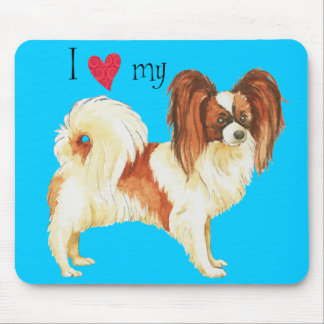 I Love my Papillon Mouse Pad