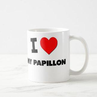 I Love My Papillon Coffee Mugs