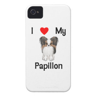 I Love My Papillon (picture) iPhone 4 Cover