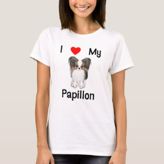 I Love My Papillon (picture) T-Shirt