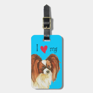 I Love my Papillon Tag For Luggage