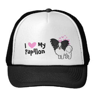I Love My Papillon Trucker Hat