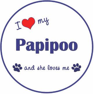 I Love My Papipoo (Female Dog) Statuette