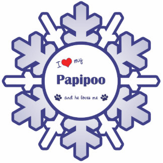 I Love My Papipoo (Male Dog) Statuette