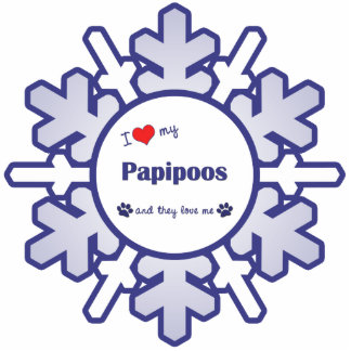 I Love My Papipoos (Multiple Dogs) Cutout
