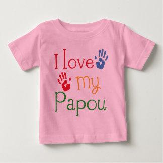 I Love My Papou (Handprints) Baby T-Shirt
