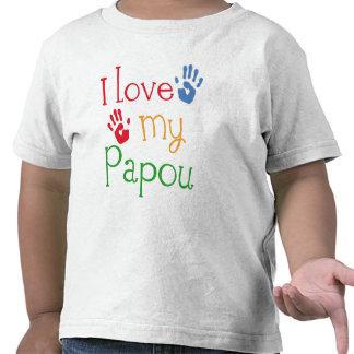 I Love My Papou (Handprints) T Shirt
