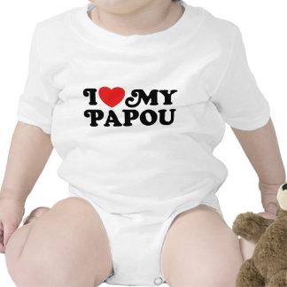 I Love My Papou Baby Bodysuits