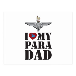 I LOVE MY PARA DAD POSTCARD