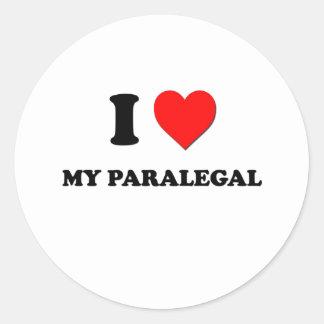 I love My Paralegal Classic Round Sticker