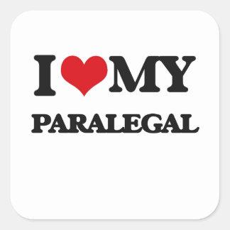 I love my Paralegal Square Sticker