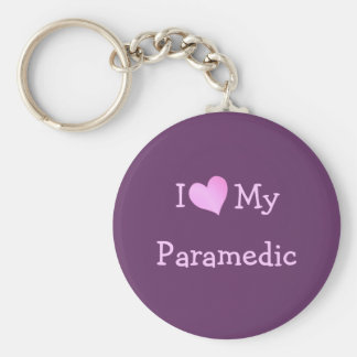 I Love My Paramedic Basic Round Button Keychain