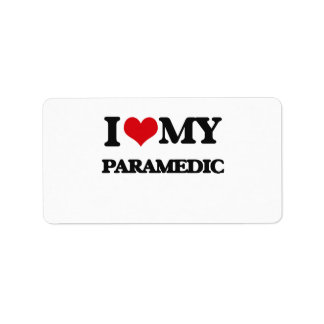 I love my Paramedic Personalized Address Labels