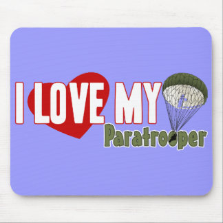I Love My Paratrooper Mousepads
