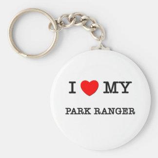 I Love My PARK RANGER Basic Round Button Keychain