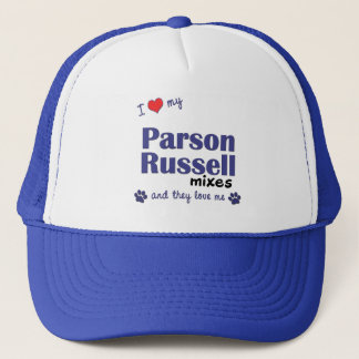 I Love My Parson Russell Mixes (Multiple Dogs) Trucker Hat
