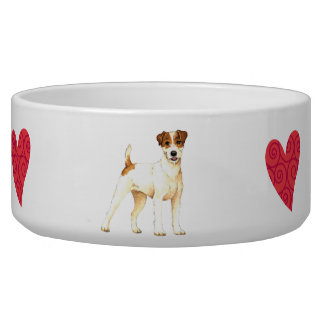 I Love my Parson Russell Terrier Bowl