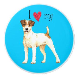 I Love my Parson Russell Terrier Ceramic Knob