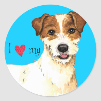 I Love my Parson Russell Terrier Classic Round Sticker