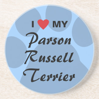 I Love My Parson Russell Terrier Coaster