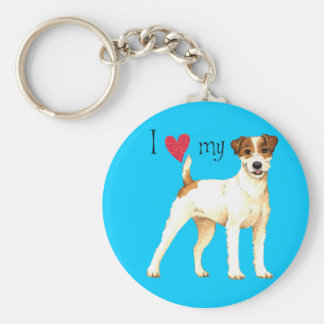 I Love my Parson Russell Terrier Keychain