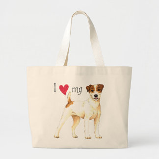I Love my Parson Russell Terrier Large Tote Bag