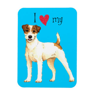 I Love my Parson Russell Terrier Magnet