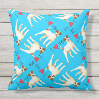 I Love my Parson Russell Terrier Outdoor Pillow