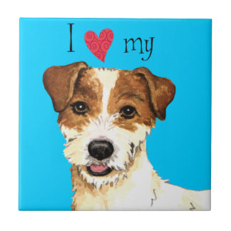 I Love my Parson Russell Terrier Tile