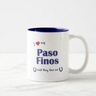 I Love My Paso Finos (Multiple Horses) Mugs