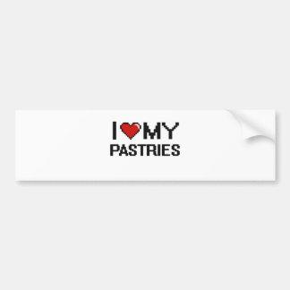 I Love My Pastries Digital design Car Bumper Sticker