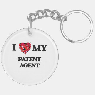 I love my Patent Agent Double-Sided Round Acrylic Keychain